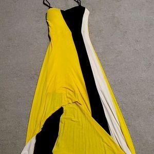 Unique yellow dress
